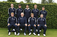 Interprovincial Championship Teams.<br /> Leinster Golf:<br /> team Captain Seamus McParland<br /> Eugene Smith, Robert Brazill, Robert Cannon, Jonathan Yates, Charlie Denvir.<br /> Front: Alan Fahy team Captain Seamus McParland, Robert Moran and Caolan Rafferty.<br /> <br /> During the Interprovincial Championship 2018, Athenry golf club, Galway, Ireland. 30/08/2018.<br /> Picture Fran Caffrey / Golffile.ie<br /> <br /> All photo usage must carry mandatory copyright credit (&copy; Golffile | Fran Caffrey)