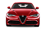 Car photography straight front view of a 2017 Alfa Romeo Giulia Quadrifoglio Base 4 Door Sedan
