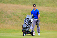 Paul Coughlan (Castleknock) on the 16th during Round 2 of the North of Ireland Amateur Open Championship 2019 at Portstewart Golf Club, Portstewart, Co. Antrim on Tuesday 9th July 2019.<br /> Picture:  Thos Caffrey / Golffile<br /> <br /> All photos usage must carry mandatory copyright credit (© Golffile | Thos Caffrey)