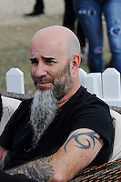 DERBYSHIRE, ENGLAND - AUGUST 14: Scott Ian of 'Anthrax' backstage at Bloodstock Open Air Festival, Catton Park on August 14, 2016 in Derbyshire, England.<br /> CAP/MAR<br /> &copy;MAR/Capital Pictures / MediaPunch  **USA and South America Only**