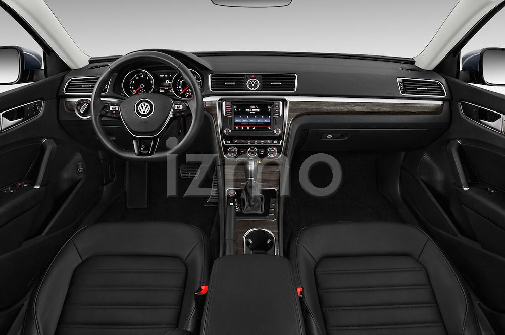 Stock photo of straight dashboard view of 2016 Volkswagen Passat 3.6L-SEL-Premium-Auto 4 Door Sedan Dashboard