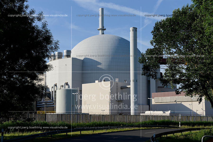 GERMANY Brokdorf, nuclear power station / DEUTSCHLAND Schleswig-Holstein, Brokdorf Kernkraftwerk Eon/Vattenfall