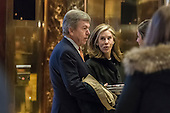 Missouri Senator Roy Blunt is seen upon his arrival in the lobby of Trump Tower in New York, NY, USA on January 13, 2017.  Credit: Albin Lohr-Jones / Pool via CNP