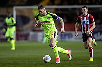 Bolton Wanderers' Daryl Murphy breaks away from  Lincoln City's Conor Coventry (right) <br /> <br /> Photographer Andrew Kearns/CameraSport<br /> <br /> The EFL Sky Bet League One - Lincoln City v Bolton Wanderers - Tuesday 14th January 2020  - LNER Stadium - Lincoln<br /> <br /> World Copyright © 2020 CameraSport. All rights reserved. 43 Linden Ave. Countesthorpe. Leicester. England. LE8 5PG - Tel: +44 (0) 116 277 4147 - admin@camerasport.com - www.camerasport.com
