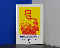 Brandon Haunstrup of Portsmouth on the front of the match day programme during Portsmouth vs Rotherham United, Sky Bet EFL League 1 Football at Fratton Park on 26th November 2019