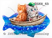 Kayomi, CUTE ANIMALS, paintings, FishingBuddies_M, USKH60,#AC# stickers illustrations, pinturas ,everyday