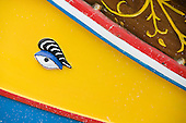 Eye on Luzzu, a maltese fishing