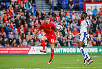 Ben Woodburn of Liverpool as he makes his first team debut as a 16 year old during the 2016/17 Pre Season Friendly match between Tranmere Rovers and Liverpool at Prenton Park, Birkenhead, England on 8 July 2016. Photo by Andy Rowland / PRiME Media Images.