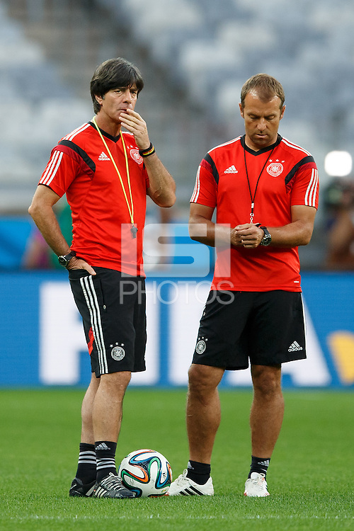 Germany manager Joachim Low and his assistant Hans-Dieter Flick