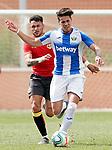 CD Leganes' Josua Mejias (r) and Rayo Vallecano's Sergio Moreno during friendly match. July 13,2018. (ALTERPHOTOS/Acero)