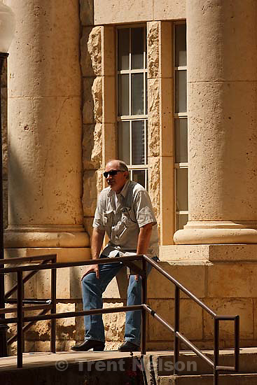Eldorado - at the Schleicher County Courthouse Wednesday, June 25, 2008, where a grand jury met to hear evidence of possible crimes involving FLDS church members from the YFZ ranch. Sam Brower