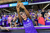 Orlando, FL - Saturday July 20, 2019:   Marta #10 during a regular season National Women's Soccer League (NWSL) match between the Orlando Pride and the Sky Blue FC at Exploria Stadium.