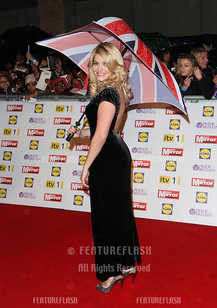 Holly Willoughby arriving for the 2012 Pride of Britain Awards, at the Grosvenor House Hotel, London. 29/10/2012 Picture by: Alexandra Glen / Featureflash