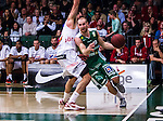 S&ouml;dert&auml;lje 2014-04-22 Basket SM-Semifinal 7 S&ouml;dert&auml;lje Kings - Uppsala Basket :  <br /> S&ouml;dert&auml;lje Kings Martin Pahlmblad i kamp om bollen med Uppsalas Liam Rush <br /> (Foto: Kenta J&ouml;nsson) Nyckelord:  S&ouml;dert&auml;lje Kings SBBK Uppsala Basket SM Semifinal Semi T&auml;ljehallen