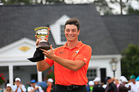 Viktor Hovland (NOR)(AM) leading amateur on the putting green at The 2019 Masters , Augusta National, Augusta, Georgia, USA. 14/04/2019.<br /> Picture Fran Caffrey / Golffile.ie<br /> <br /> All photo usage must carry mandatory copyright credit (© Golffile | Fran Caffrey)