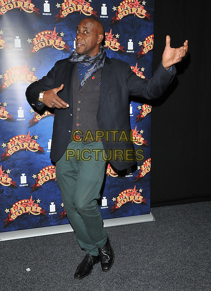 Ainsley Harriott attends the &quot;La Soiree&quot; VIP press night, La Soiree Spiegeltent, Southbank Centre, Belvedere Road, London, England, UK, on Friday 06 November 2015. <br /> CAP/CAN<br /> &copy;Can Nguyen/Capital Pictures