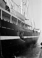 Scheepswerf Beliard Murdoch in Antwerpen.  April 1964.