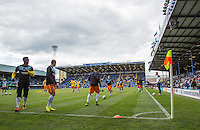 Wycombe warm up during the Sky Bet League 2 match between Portsmouth and Wycombe Wanderers at Fratton Park, Portsmouth, England on 23 April 2016. Photo by Andy Rowland.