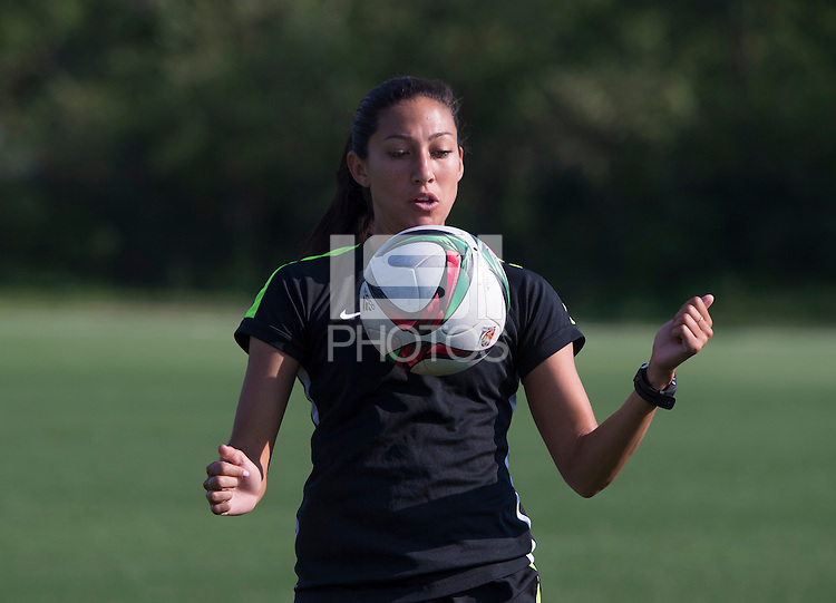 Winnipeg, Canada- June 10, 2015:  The USWNT trained in preparation for their second group game during the FIFA Women's World Cup.