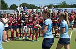 NIJMEGEN -  assistent-coach Wouter Kokx na de tweede play-off wedstrijd dames, Nijmegen-Huizen (1-4), voor promotie naar de hoofdklasse.. Huizen promoveert naar de hoofdklasse.  COPYRIGHT KOEN SUYK