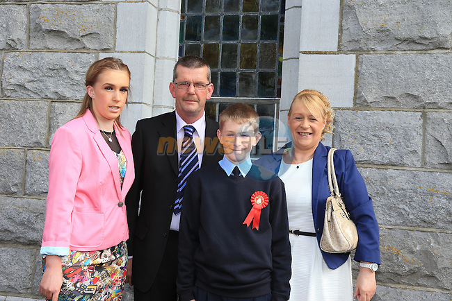 John Murray, Johnny Caroline and Kim at confirmation in Duleek..Picture:  www.newsfile.ie ..