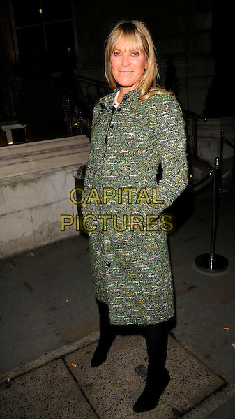 BELINDA LANG.The Dom Perignon Vintage Champagne party, The Landau restaurant, London, England..February 26th, 2008.full length green tweed coat hand in pocket .CAP/CAN.©Can Nguyen/Capital Pictures.
