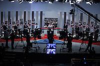 ATENCAO EDITOR FOTO EMBARGADA PARA VEICULO INTERNACIONAL - SAO PAULO, SP , 24 DE SETEMBRO 2012 - DEBATE TV GAZETA - Os candidatos a prefeitura da cidade de Sao Paulo, pelo PRB Celso Russomanno  durante debate do primeiro turno da tv Gazeta na noite desta segunda-feira, 24 na sede da tv na avenida Paulista. FOTO: VANESSA CARVALHO / BRAZIL PHOTO PRESS.