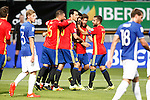 Spain's Sergio Ramos, Sergio Busquets, Diego Costa, Sergi Roberto and Jordi Alba celebrate goal during FIFA World Cup 2018 Qualifying Round match. September 5,2016.(ALTERPHOTOS/Acero)