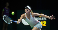 Maria Sharapova in action in the BNP Paribas WTA Finals