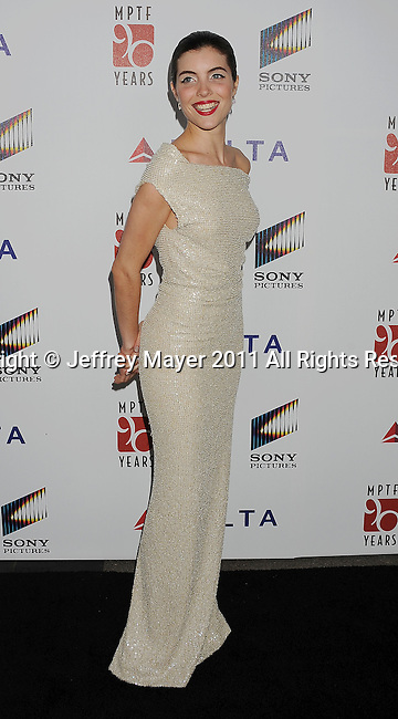 """CULVER CITY, CA - OCTOBER 15: Josefina Scaglione attends the The 6th Annual """"A Fine Romance"""" Event at Sony Pictures Studios on October 15, 2011 in Culver City, California."""