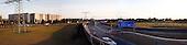BERLIN, NIEMCY, 10/2009:.Autostrada dzielaca wschodni Treptow (L) i zachodni Rudow. Tu kiedys stal mur..Dwie dzielnice Berlina; Rudow, znajdujace sie w bylym Berlinie Zachodnim, oraz Treptow, po wschodniej stronie, byly przez lata rozdzielone murem berlinskim. Gdy mur runal, zostaly on z powrotem zjednoczone az do momentU, gdy miedzy nimi wyrosla nowa bariera - autostrada zbudowana wzdluz pasa ziemi niczyjej na ktorej stal mur.  ...Motorway between Treptow, left  and Rudow, right, former East Berlin..Two Berlin neighbourhoods - Rudow, on the western side and Treptow in the East, used to be divided by the infamous Berlin Wall until 1989. Now they both are a part of the same Germany, although quite recently they have been divided again, by a new motorway built along the no-man's land of the wall. .Berlin, Germany, October 2009.(Photo by Piotr Malecki / Napo Images).Fot: Piotr Malecki / Napo Images