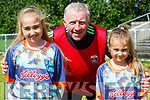 Moyvane Cul Camp : Sisters Ruby & Mara Lyons, Moyvane with coach John Dillon at the Moyvane GAA cul Camp on Friday last.