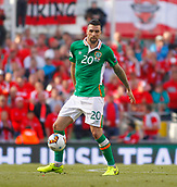 June 11th 2017, Dublin, Republic Ireland; 2018 World Cup qualifier, Republic of Ireland versus Austria; Shane Duffy on the ball for Republic of Ireland