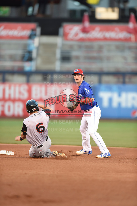 ***Temporary Unedited Reference File***Tulsa Drillers shortstop Drew Maggi (37) during a game against the Arkansas Travelers on April 25, 2016 at ONEOK Field in Tulsa, Oklahoma.  Tulsa defeated Arkansas 4-3.  (Mike Janes/Four Seam Images)