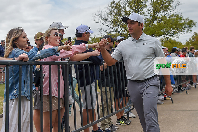 Francesco Molinari (ITA) fist bumps fans as he heads down 10 during day 4 of the WGC Dell Match Play, at the Austin Country Club, Austin, Texas, USA. 3/30/2019.<br /> Picture: Golffile | Ken Murray<br /> <br /> <br /> All photo usage must carry mandatory copyright credit (© Golffile | Ken Murray)