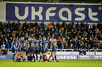 3rd January 2020; AJ Bell Stadium, Salford, Lancashire, England; English Premiership Rugby, Sale Sharks versus Harlequins; The Sale players have a team talk - Editorial Use