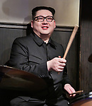 Howard X, impersonator of North Korean leader Kim Jong Un performs at Jazz Bar COMODO in Osaka, Japan on June 27, 2019. (Photo by AFLO)