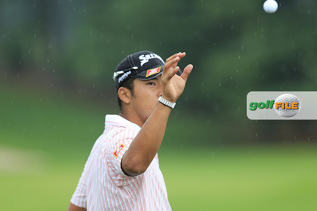 Hideki Matsuyama (JPN) on the driving range during Wednesday's Practice Day of the 2013 Bridgestone Invitational WGC tournament held at the Firestone Country Club, Akron, Ohio. 31st July 2013.<br /> Picture: Eoin Clarke www.golffile.ie