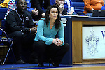 23 November 2014: Marquette head coach Carolyn Kieger. The Duke University Blue Devils hosted the Marquette University Golden Eagles at Cameron Indoor Stadium in Durham, North Carolina in a 2014-15 NCAA Division I Women's Basketball game. Duke won the game 83-51.