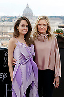 Angelina Jolie and Michelle Pfeiffer<br /> Rome October 7th 2019. Photocall to present the film Maleficent: Mistress of Evil in European premiere<br /> Foto  Samantha Zucchi Insidefoto