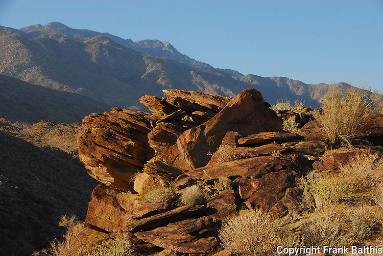 Rocks and San Jacinto Mountains from Indian Canyons