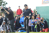 Lee Slattery (ENG) on the 18th green during Round 4 of the D+D Real Czech Masters at the Albatross Golf Resort, Prague, Czech Rep. 03/09/2017<br /> Picture: Golffile   Thos Caffrey<br /> <br /> <br /> All photo usage must carry mandatory copyright credit     (&copy; Golffile   Thos Caffrey)