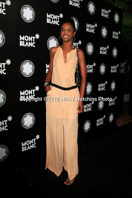 LOS ANGELES - OCT 2:  Kim Porter arrives at the 2012 Montblanc De La Culture Arts Gala at Chateau Marmont on October 2, 2012 in Los Angeles, CA