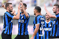 Lugano 14-07-2019 <br /> Football 2019/2020 pre season Friendly match <br /> Lugano - Inter <br /> Photo Matteo Gribaudi / Image Sport / Insidefoto esultanza gol Stefan de Vrij