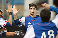 17 August 2010: Maxime Charlot of Team France celebrates during the Czech Republic 4-3 win over France, at the 2010 European Championship, under 21, in Brno, Czech Republic.