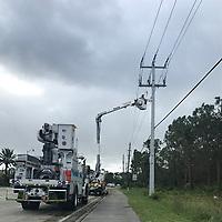 2017 FPL Hurricane Irma restoration in Bonita Springs, Fla. on Sept. 11, 2017