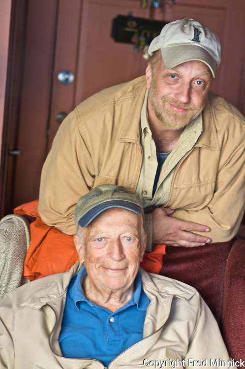 Chris Elliott (top) and his father Bob Elliott. Chris is a long-time actor who has appeared in numerous films. Bob  was a part of an American comedy team called Bob & Ray, which was on the air five decades.