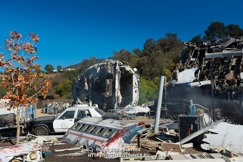 Plane Crash Site From War of the Worlds Movie In Universal Studios Theme Park, Los Angeles, California