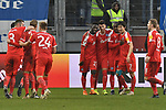 02.12.2018, Schauinsland-Reisen-Arena, Duisburg, GER, 2. FBL, MSV Duisburg vs. Holstein Kiel, DFL regulations prohibit any use of photographs as image sequences and/or quasi-video<br /> <br /> im Bild Jae-sung Lee (#7, Holstein Kiel) macht das Tor zum 0:4 und jubelt mit seiner Mannschaft<br /> <br /> Foto &copy; nordphoto/Mauelshagen