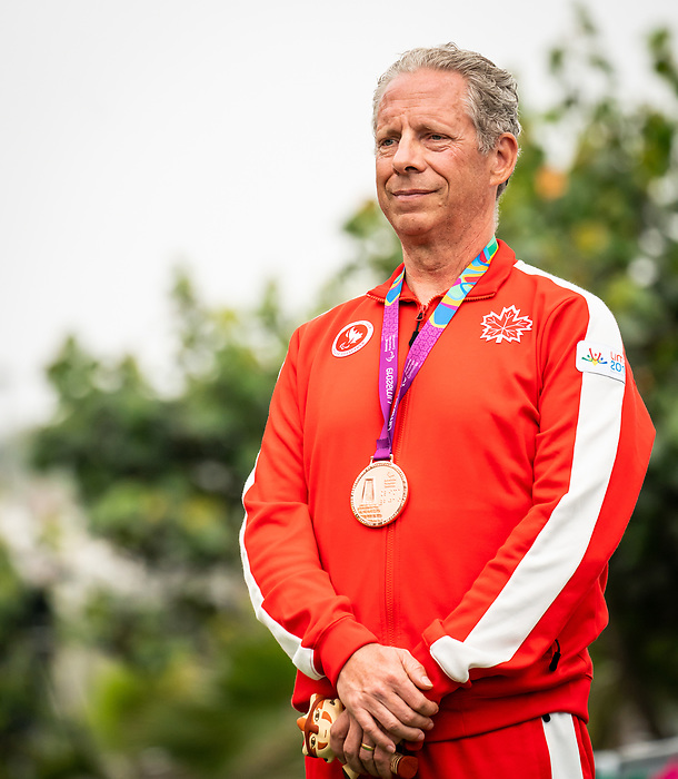 Lima, Peru -  1/September/2019 -   Michael Shetler takes the bronze medal in the mixed road race T1-2 at the Parapan Am Games in Lima, Peru. Photo: Dave Holland/Canadian Paralympic Committee.
